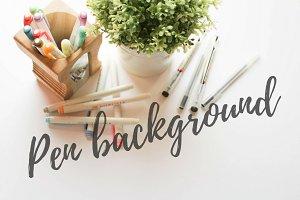 Pen pot background