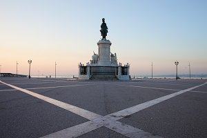 Praca do Comercio in Lisbon at Dawn
