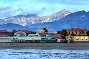 Evening Italian coast.