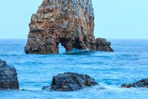 Rock near shore.