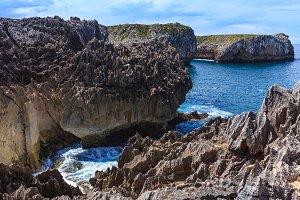 Summer rocky coast view.