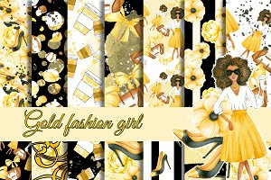 Gold fashion patterns