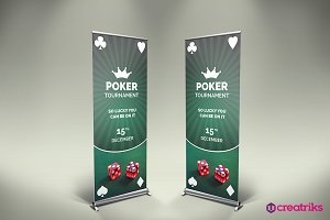 Poker Tournament Roll Up Banner