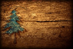 Rustic Christmas background.
