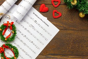 Christmas Music with Decoration.