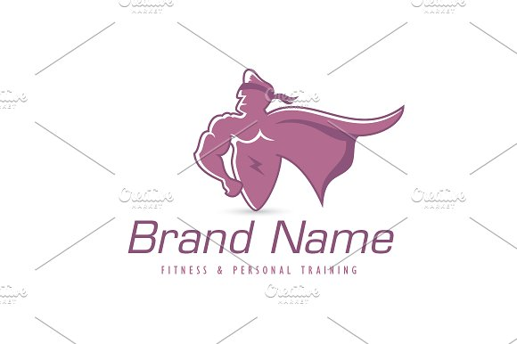 super hero logo logo templates creative market