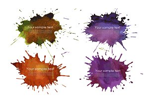 Set of Splash watercolour banner