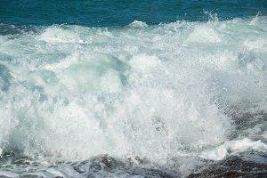 Big wave with sea foam