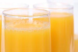 Glasses with orange juice