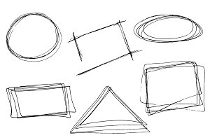 Hand drawn geometric frames