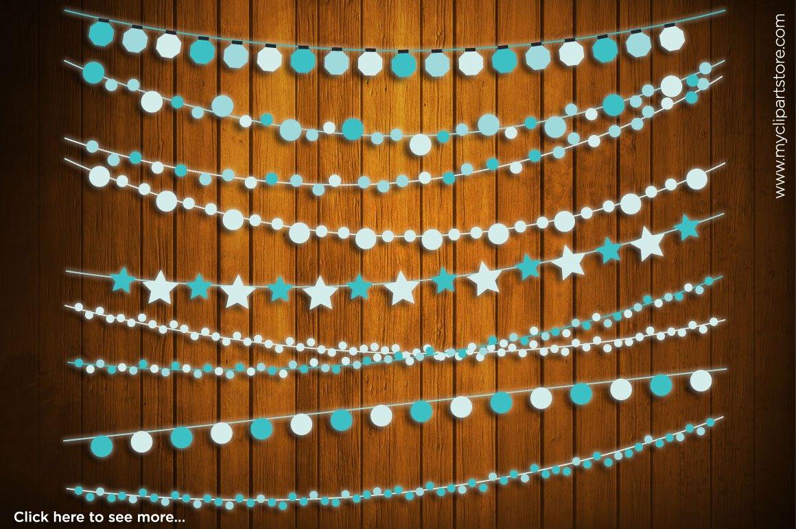 60% OFF - String Lights (Blue) ~ Illustrations on Creative Market