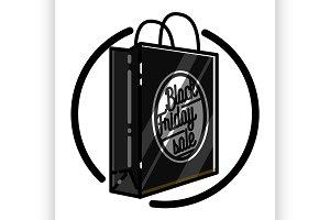 black friday sale emblem