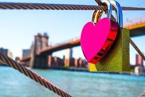 Lock of love, Brooklyn Bridge