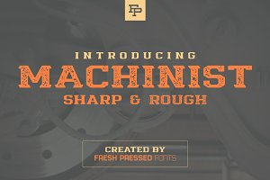 Machinist Display Font