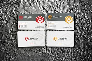 e hexagon business card