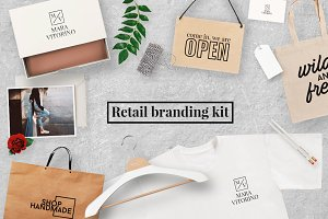Retail branding mock up kit