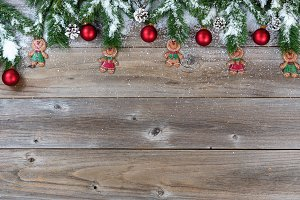 Rustic wood and Xmas
