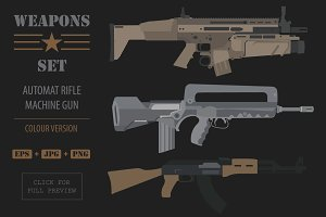 Big firearm weapon set