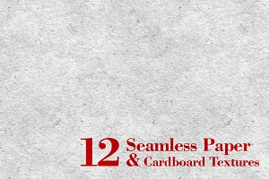 12 Seamless Paper&Cardboard Textures