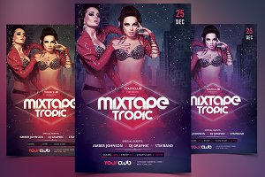 Mixtape Tropic - PSD Flyer Template