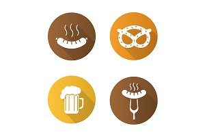 Octoberfest. 4 icons. Vector