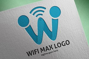 Wifi Max (Letter W) Logo