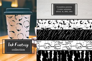 Ink Fantasy. Pattern collection