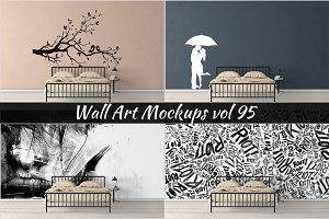 Wall Mockup - Sticker Mockup Vol 95