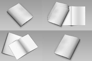 Mockup For Bi-Fold Brochure