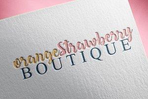 Handlettered Boutique Logo