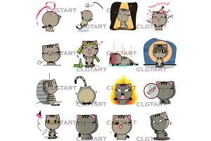 Den the cat sticker pack 3