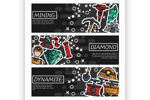 Banners about Mining