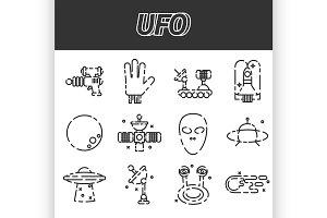UFO icon set