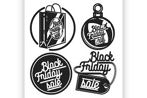 Vintage black friday sale emblems