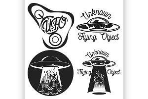 vintage ufo emblems