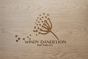 Windy Dandelion Premade Nature Logo