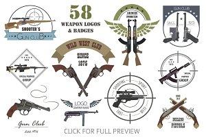 Weapon logo and badge BIG SET
