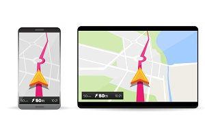 Navigation in smartphone and tablet