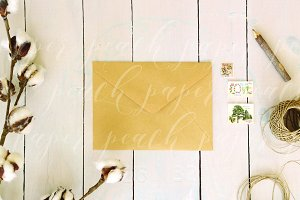 Kraft Envelope for Stamp or Sticker