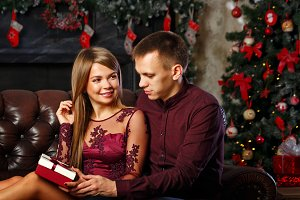 Married couple and Christmas