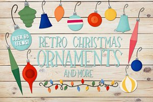 Retro Christmas Ornaments and More