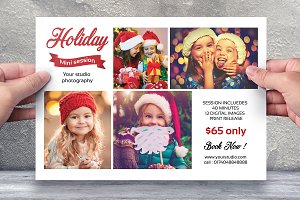 Holiday Mini Session Template-V442