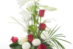 Floral arrangement with lily flowers