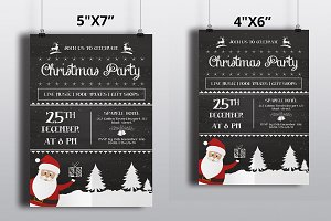 Chalkboard Christmas Flyer-V443