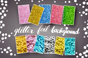 glitter and foil background