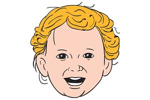 Blonde Caucasian Toddler Head