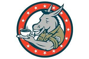 Army Sergeant Donkey Coffee Circle