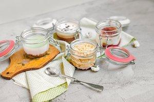 Desserts in jar