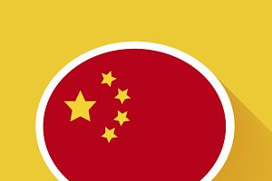speech bubble with China flag