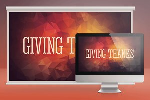Giving Thanks Church Slide PSD